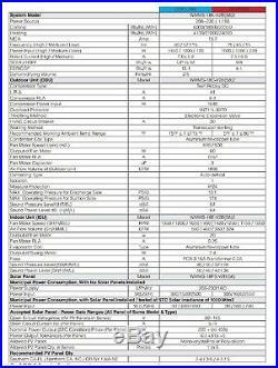 YMGI 12000 BTU Hybrid Solar Ductless Mini Split Air Conditioner heat pump KQA